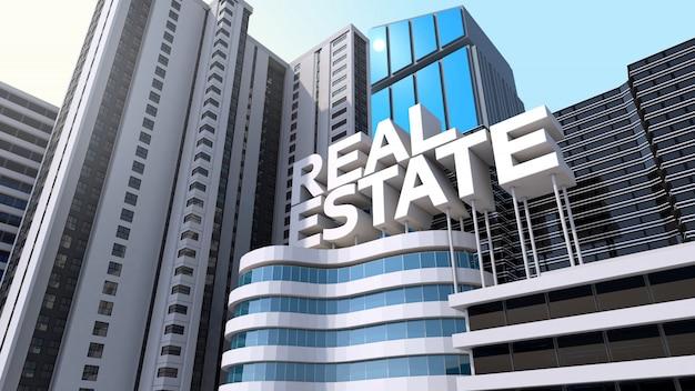 Modernes gebäude mit immobilien- und immobilieninvestitionen