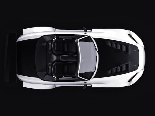 Modernes grau metallic sport cabrio offenes auto mit tuning