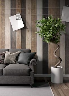 Modernes helles interieur mit schöner dekoration
