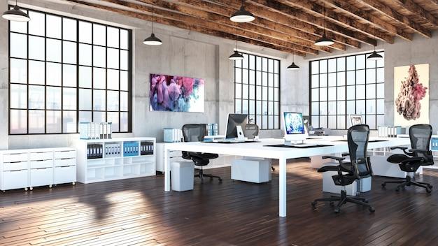 Modernes industrielles büro