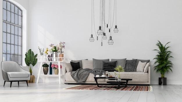 Modernes innendesign. dekorativer hintergrund eines hauses, einer wohnung, eines büros oder eines hotels.