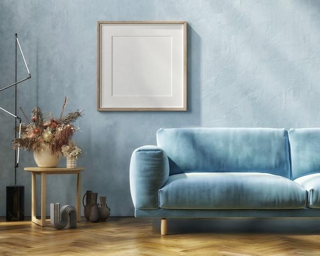 Modernes innenmodell mit weißem sofatisch und dekoration im wohnzimmer