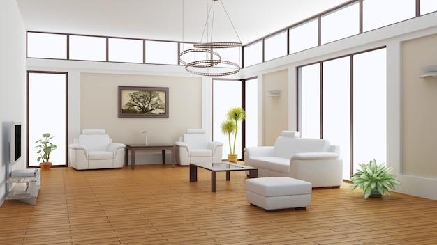 Modernes interieur eines warteraums