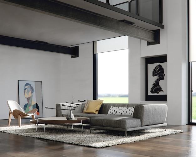 Modernes interieur eines wohnzimmers