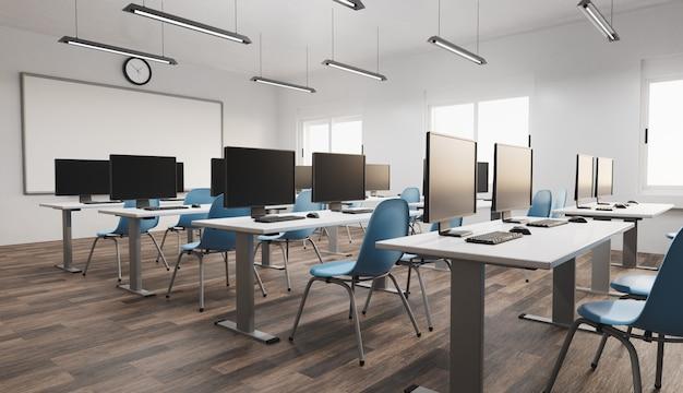 Modernes klassenzimmer-interieur