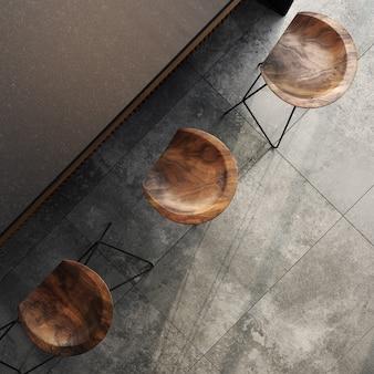 Modernes kücheninterieur im loftstil