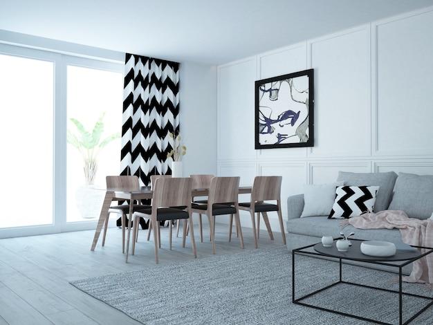 Modernes luxuriöses wohnzimmer