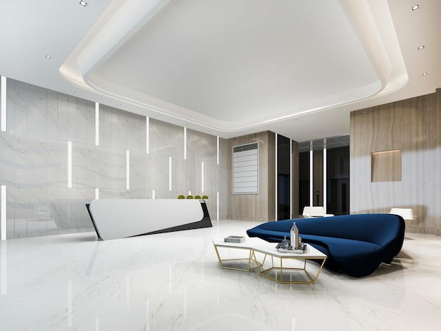 Modernes luxushotel und büroempfang