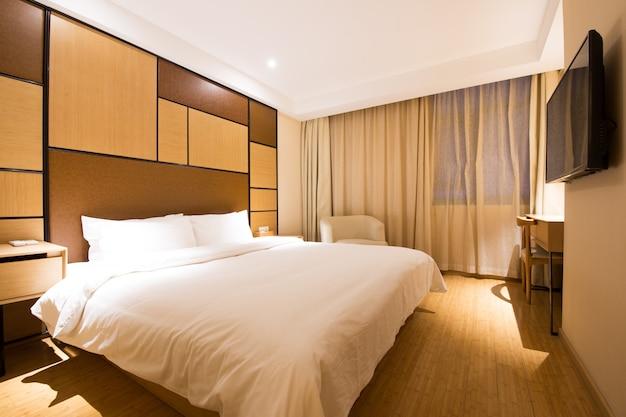 Modernes luxusschlafzimmer der japanischen art.