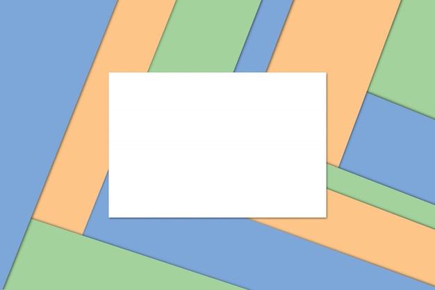 Modernes materialdesign, farbpapierzusammensetzung, abstraktes banner und hintergrund.