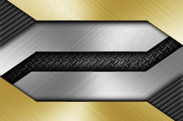 Modernes metall, das hintergrundschablone gestaltet