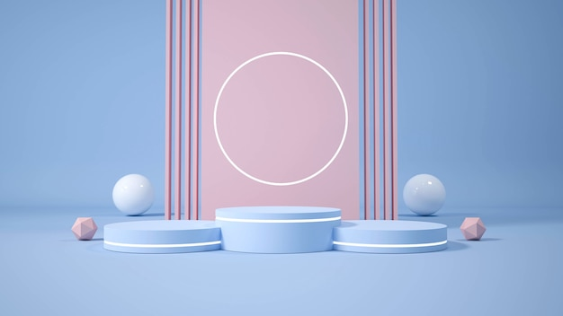 Modernes minimalistisches podium. 3d-illustration