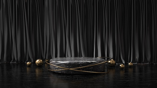Modernes minimalistisches podium
