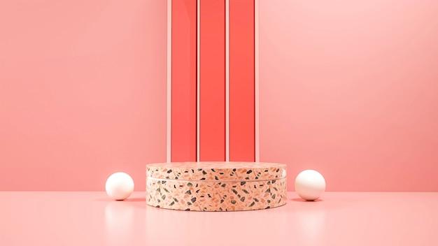 Modernes minimalistisches podium.
