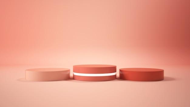Modernes minimalistisches podiumsdisplay