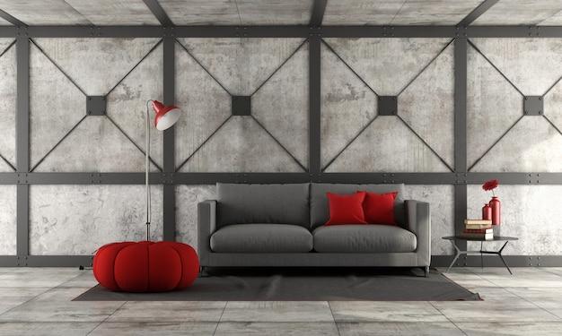 Modernes sofa in einem loft