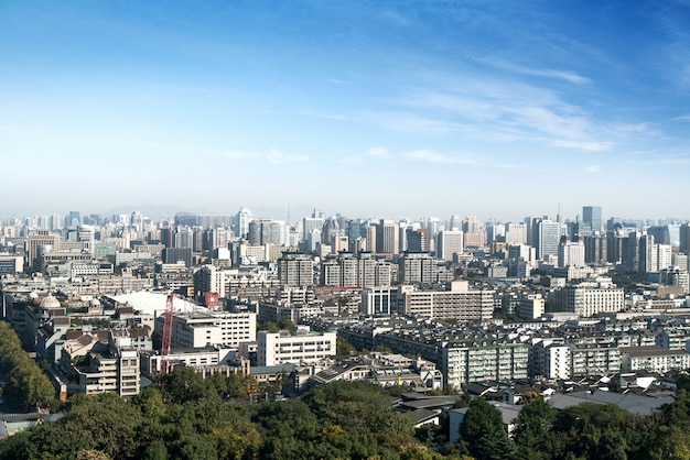 Modernes stadtpanorama in hangzhou, china