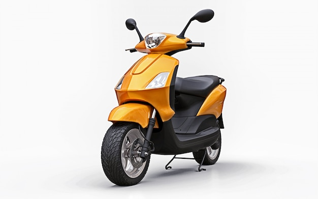 Modernes städtisches orange moped