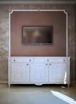 Modernes und art-deco-tv-konsolendesign