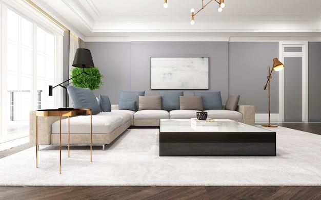Modernes und vertraglich vereinbartes wohnzimmer