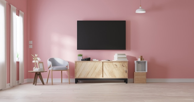 Modernes wohnzimmer. 3d-rendering