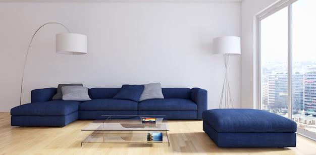 Modernes wohnzimmer 3d übertragen