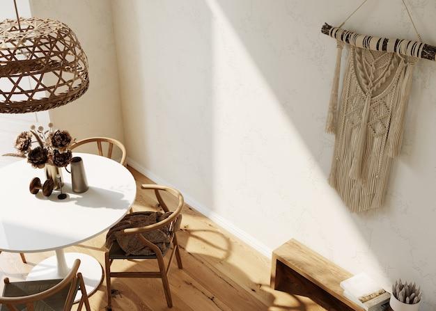 Modernes wohnzimmer interieur im boho-stil