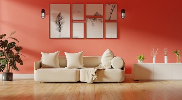 Modernes wohnzimmer interieur