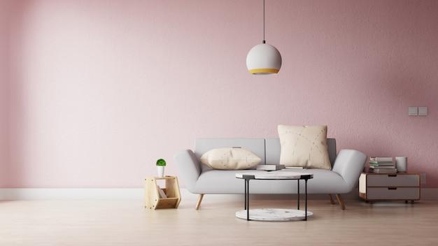 Modernes wohnzimmer mit bunter dekoration