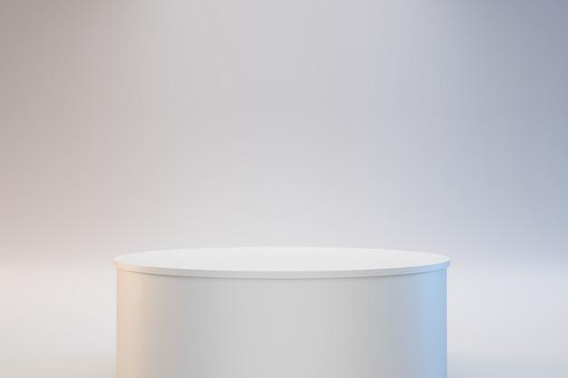Modernes zylindrisches podium