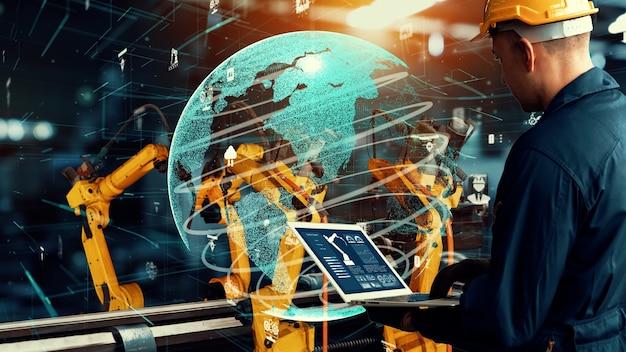 Modernisierung der intelligenten industrieroboterarme für die digitale fabriktechnologie