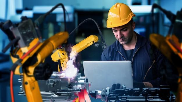 Modernisierung der intelligenten industrieroboterarme für die digitale werkstechnologie