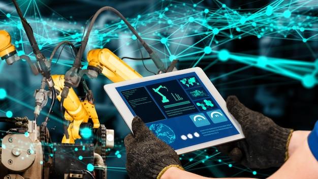 Modernisierung der intelligenten industrieroboterarme für innovative fabriktechnik