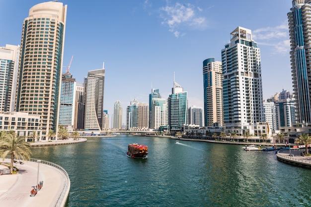 Modetn stadt des luxuszentrums von dubai, vereinigte arabische emirate