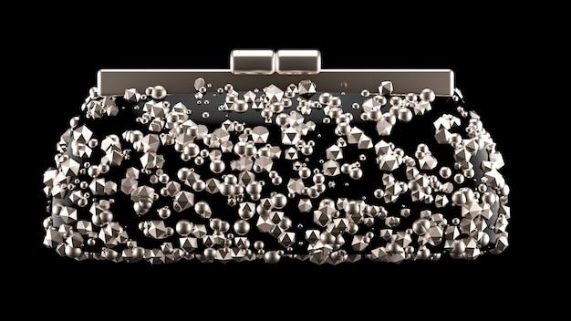 Modische elegante clutch, handtasche. 3d-illustration, 3d-rendering.
