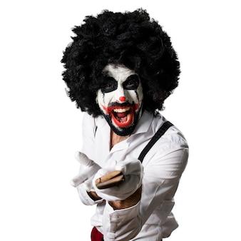 Mörder-clown mit messer-schreien