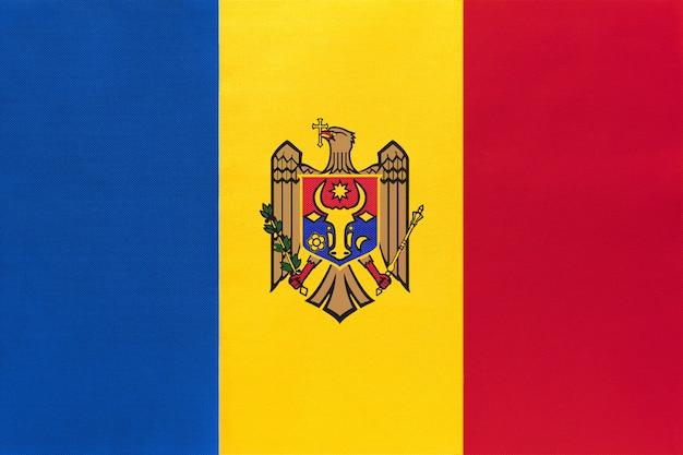 Moldau nationale gewebeflagge, symbol des internationalen welteuropäischen landes.
