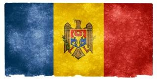 Moldova grunge flag vogel