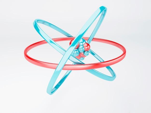 Molekül, atom auf weißem hintergrund