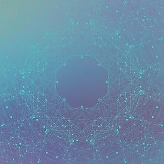 Molekül und kommunikation mit verbundenen punkten und linien. dna-molekülstruktur. grafischer hintergrund für ihr design, illustration.