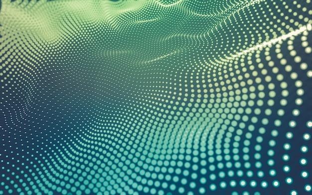 Molekülhintergrund mit polygonalen formen