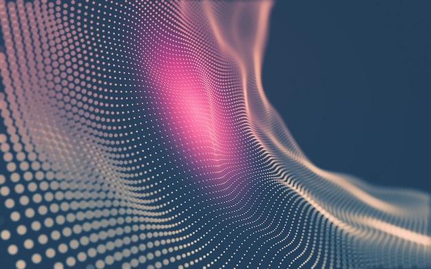 Molekulartechnologie mit polygonalen formen, die punkte und linien verbinden