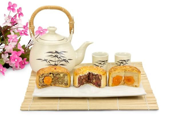 Mondkuchen, traditionelle chinesische bäckerei.