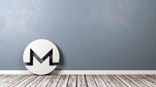 Monero-kryptowährungssymbol im raum