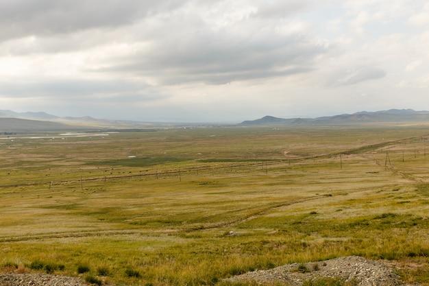 Mongolische landschaft von orkhon-tal