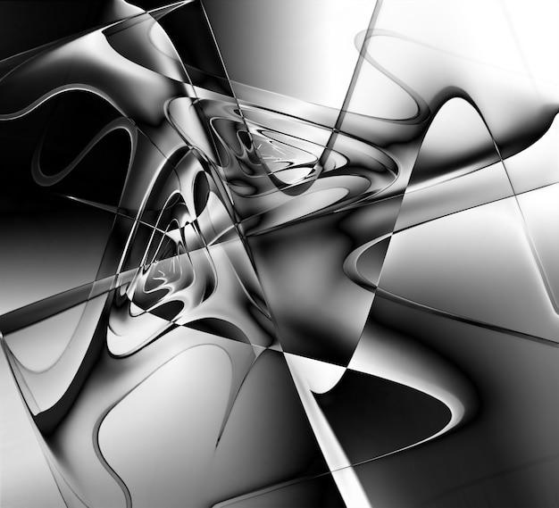Monochromer psychedelischer hintergrund für ihr projekt