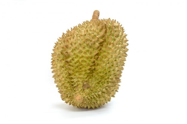 Montag-thong-durianfrucht auf weißem hintergrund
