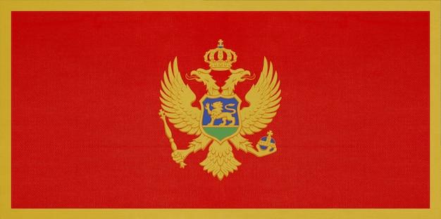 Montenegro national stoff flagge