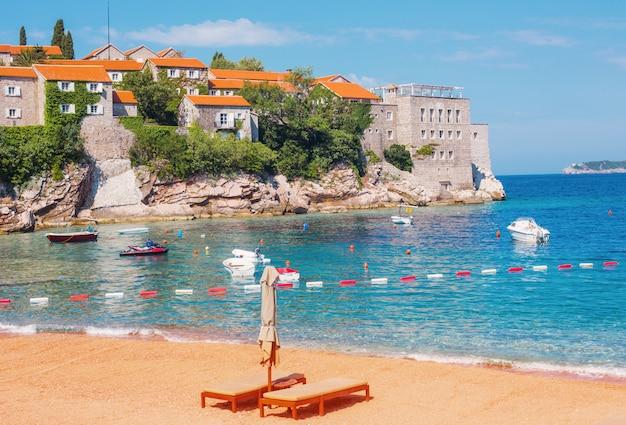 Montenegro, schönheit teures hotel in sveti stefan - balkan europa