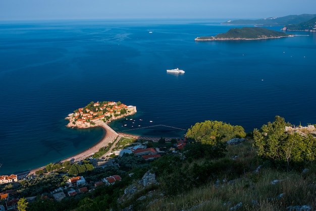 Montenegro, sveti stefan, budva-küste der adria,